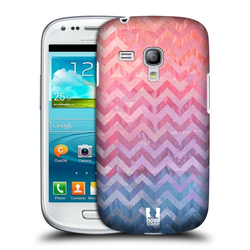 Plastové pouzdro na mobil Samsung Galaxy S III Mini HEAD CASE Pink Chevron (Kryt či obal na mobilní telefon Samsung Galaxy S III Mini GT-i8190)