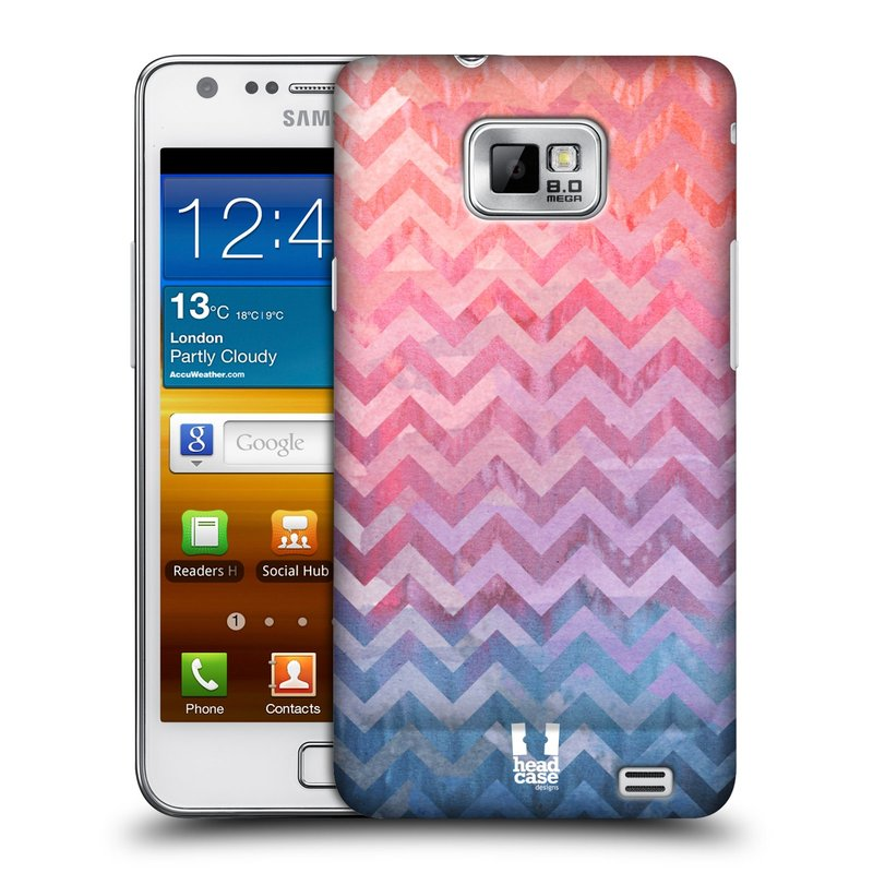 Plastové pouzdro na mobil Samsung Galaxy S II HEAD CASE Pink Chevron (Kryt či obal na mobilní telefon Samsung Galaxy S II GT-i9100)