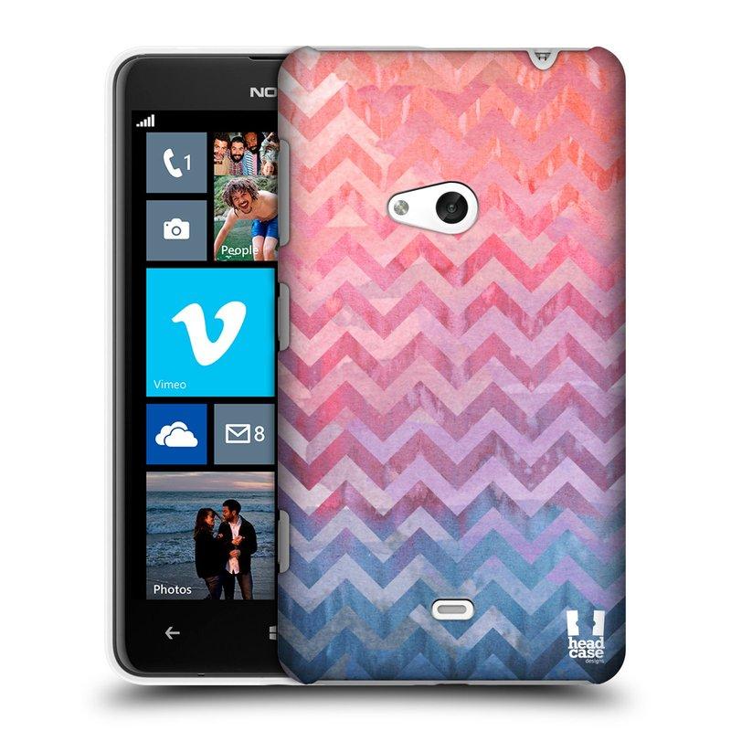 Plastové pouzdro na mobil Nokia Lumia 625 HEAD CASE Pink Chevron (Kryt či obal na mobilní telefon Nokia Lumia 625)