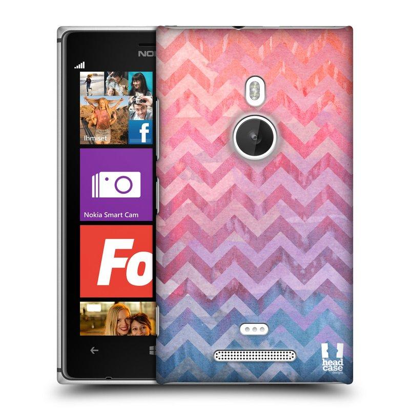 Plastové pouzdro na mobil Nokia Lumia 925 HEAD CASE Pink Chevron (Kryt či obal na mobilní telefon Nokia Lumia 925)