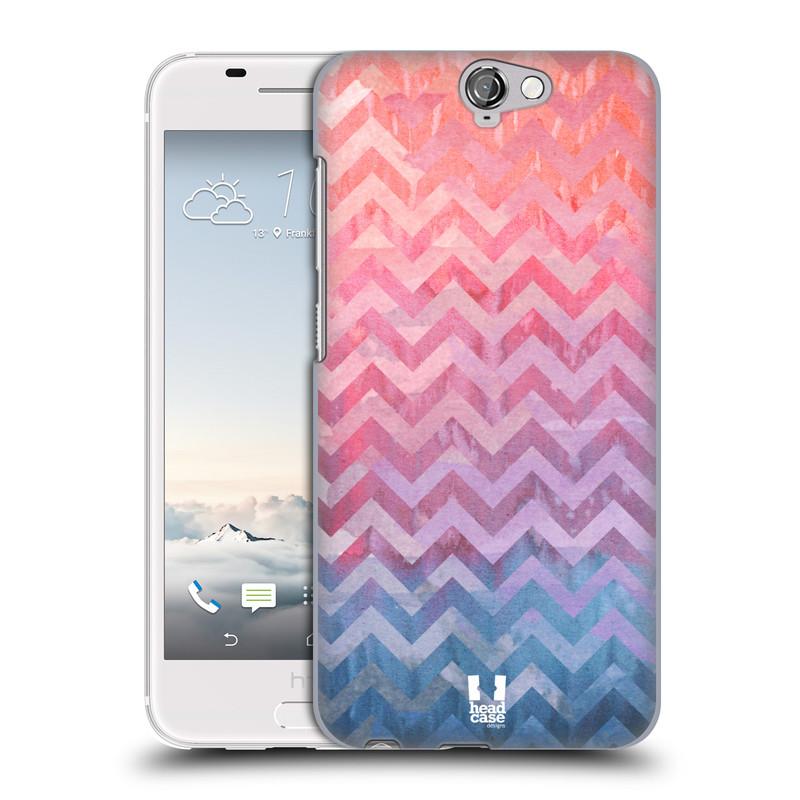Plastové pouzdro na mobil HTC One A9 HEAD CASE Pink Chevron (Kryt či obal na mobilní telefon HTC One A9)