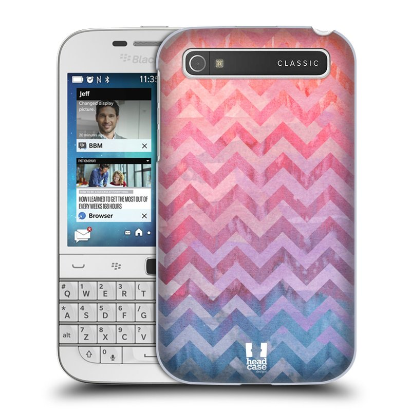 Plastové pouzdro na mobil Blackberry Classic HEAD CASE Pink Chevron (Kryt či obal na mobilní telefon Blackberry Classic)