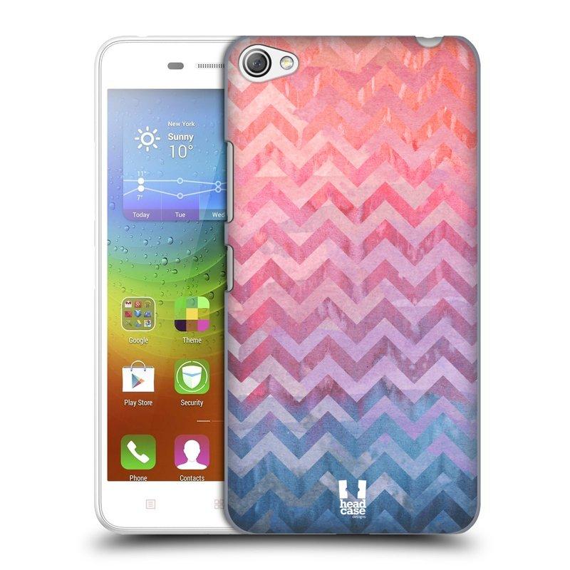 Plastové pouzdro na mobil Lenovo S60 HEAD CASE Pink Chevron (Kryt či obal na mobilní telefon Lenovo S60)