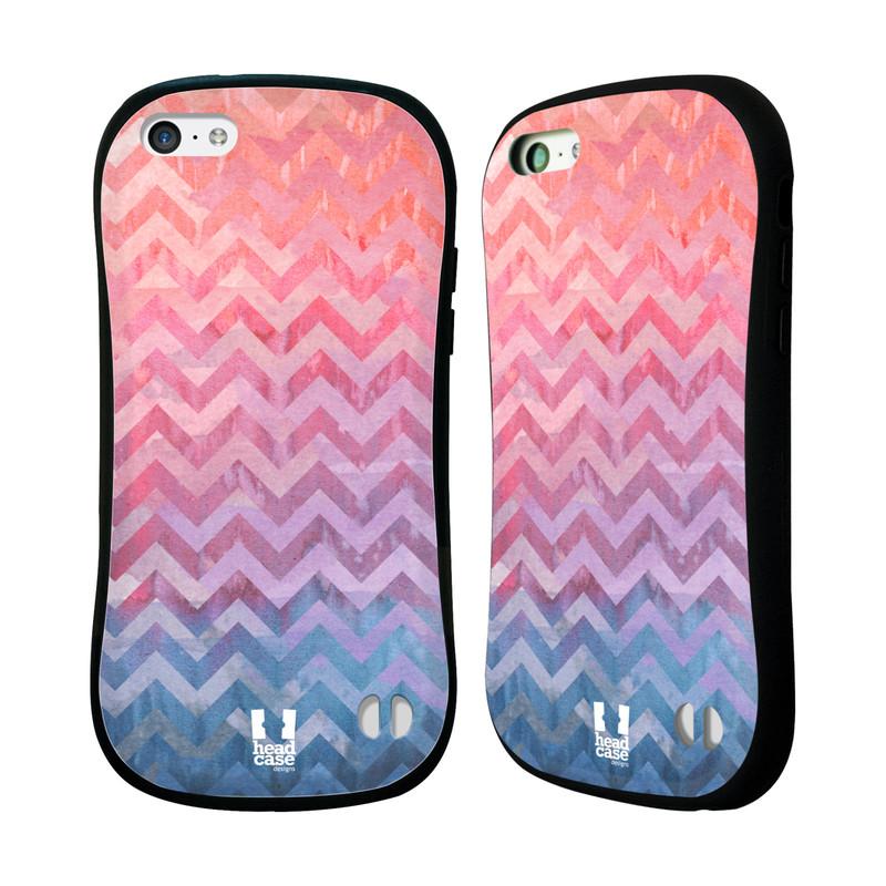Nárazuvzdorné pouzdro na mobil Apple iPhone 5C HEAD CASE Pink Chevron (Odolný nárazuvzdorný silikonový kryt či obal na mobilní telefon Apple iPhone 5C)