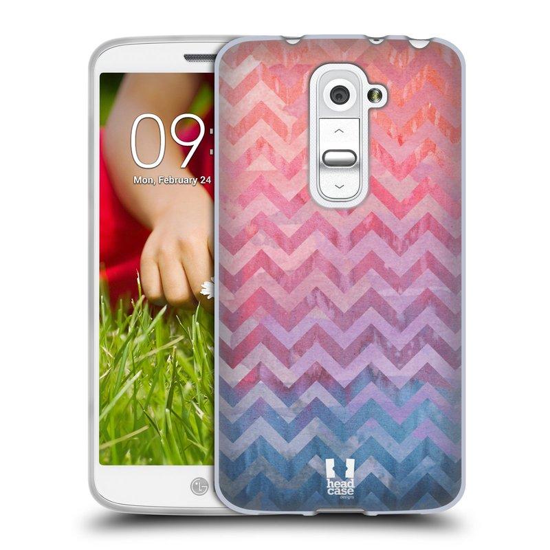 Silikonové pouzdro na mobil LG G2 Mini HEAD CASE Pink Chevron (Silikonový kryt či obal na mobilní telefon LG G2 Mini D620)