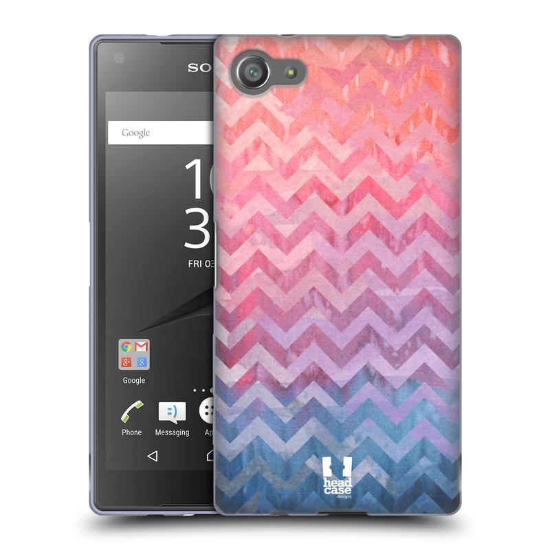 Silikonové pouzdro na mobil Sony Xperia Z5 Compact HEAD CASE Pink Chevron (Silikonový kryt či obal na mobilní telefon Sony Xperia Z5 Compact E5823)