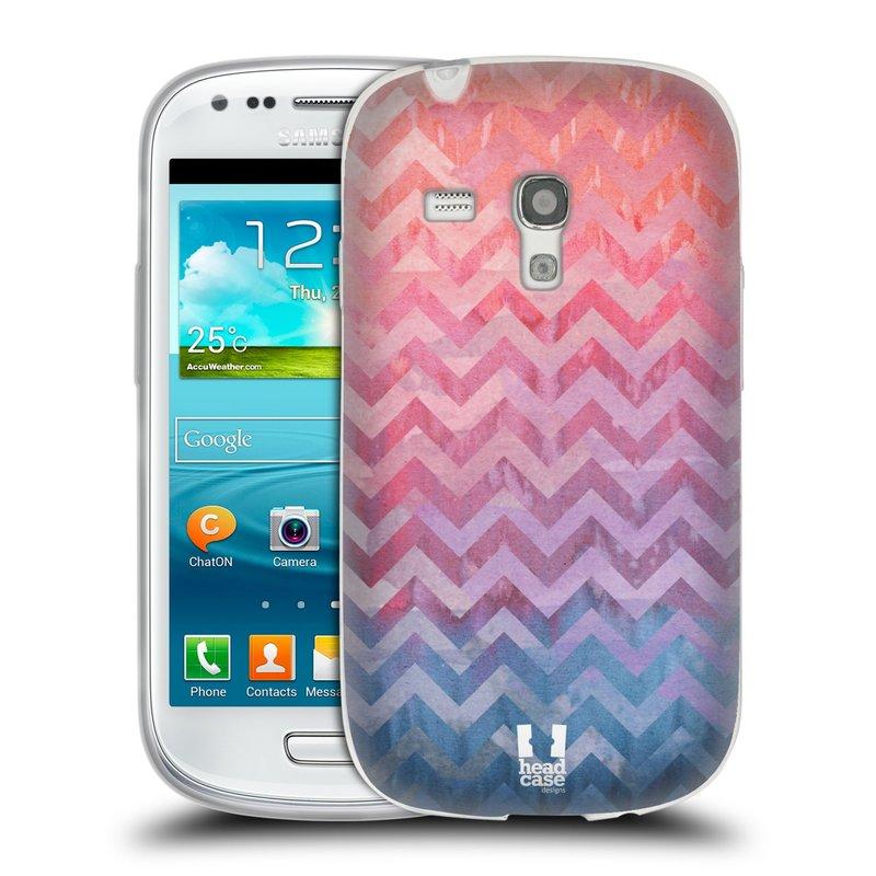 Silikonové pouzdro na mobil Samsung Galaxy S3 Mini VE HEAD CASE Pink Chevron (Silikonový kryt či obal na mobilní telefon Samsung Galaxy S3 Mini VE GT-i8200)