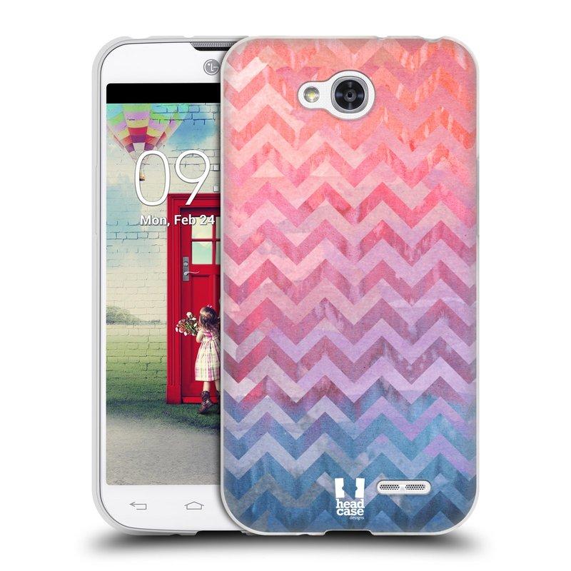 Silikonové pouzdro na mobil LG L90 HEAD CASE Pink Chevron (Silikonový kryt či obal na mobilní telefon LG L90 D405n)