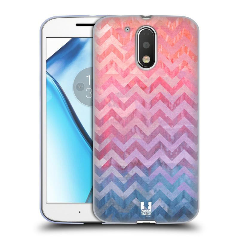 Silikonové pouzdro na mobil Lenovo Moto G4 HEAD CASE Pink Chevron (Silikonový kryt či obal na mobilní telefon Lenovo Moto G4 (Single a Dual SIM))