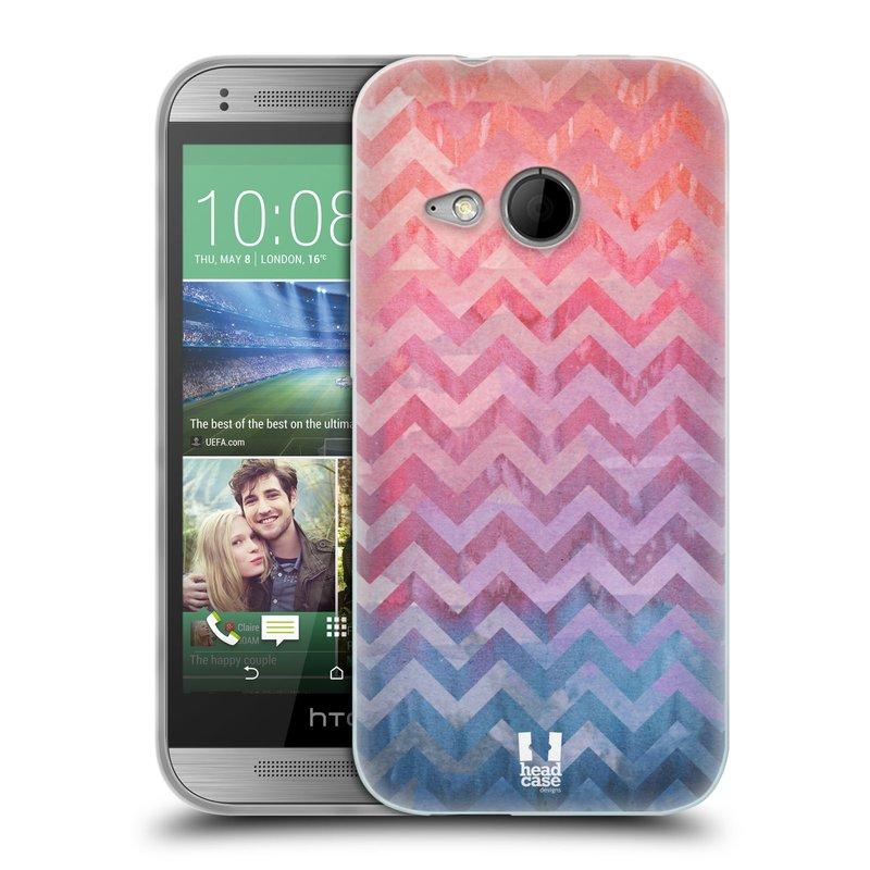 Silikonové pouzdro na mobil HTC ONE Mini 2 HEAD CASE Pink Chevron (Silikonový kryt či obal na mobilní telefon HTC ONE Mini 2)