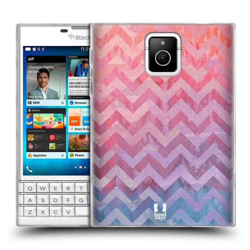 Silikonové pouzdro na mobil Blackberry PASSPORT HEAD CASE Pink Chevron (Silikonový kryt či obal na mobilní telefon Blackberry PASSPORT)