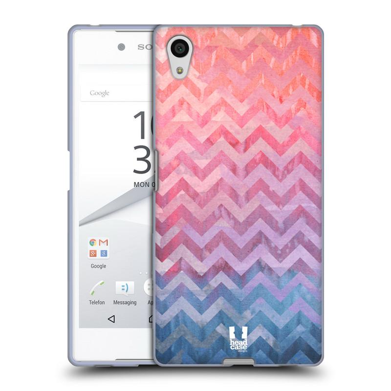 Silikonové pouzdro na mobil Sony Xperia Z5 HEAD CASE Pink Chevron (Silikonový kryt či obal na mobilní telefon Sony Xperia Z5 E6653)