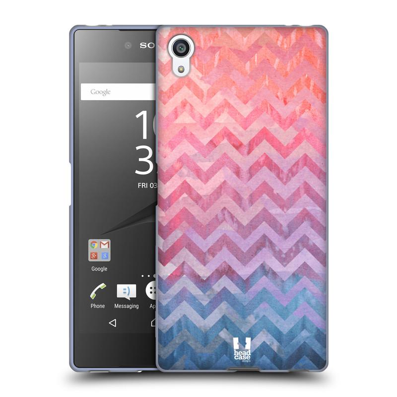 Silikonové pouzdro na mobil Sony Xperia Z5 Premium HEAD CASE Pink Chevron (Silikonový kryt či obal na mobilní telefon Sony Xperia Z5 Premium E6853)