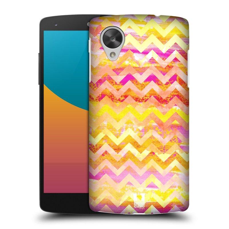 Plastové pouzdro na mobil LG Nexus 5 HEAD CASE Yellow Chevron (Kryt či obal na mobilní telefon LG Google Nexus 5 D821)