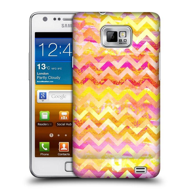 Plastové pouzdro na mobil Samsung Galaxy S II HEAD CASE Yellow Chevron (Kryt či obal na mobilní telefon Samsung Galaxy S II GT-i9100)