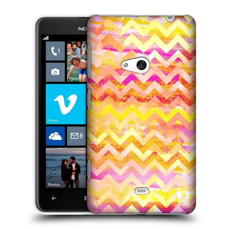 Plastové pouzdro na mobil Nokia Lumia 625 HEAD CASE Yellow Chevron (Kryt či obal na mobilní telefon Nokia Lumia 625)