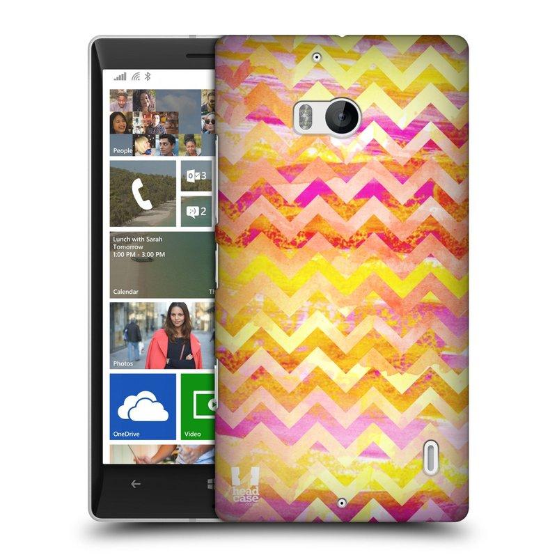 Plastové pouzdro na mobil Nokia Lumia 930 HEAD CASE Yellow Chevron (Kryt či obal na mobilní telefon Nokia Lumia 930)