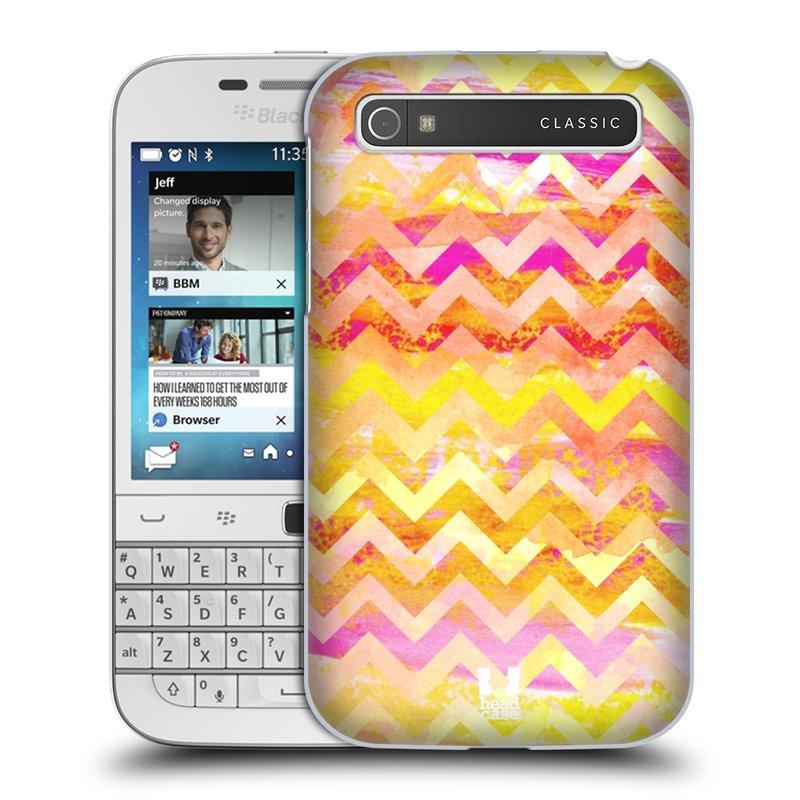 Plastové pouzdro na mobil Blackberry Classic HEAD CASE Yellow Chevron (Kryt či obal na mobilní telefon Blackberry Classic)