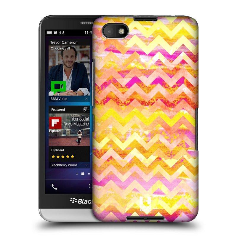 Plastové pouzdro na mobil Blackberry Z30 HEAD CASE Yellow Chevron (Kryt či obal na mobilní telefon Blackberry Z30)