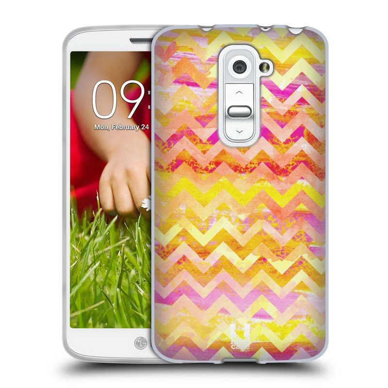 Silikonové pouzdro na mobil LG G2 Mini HEAD CASE Yellow Chevron (Silikonový kryt či obal na mobilní telefon LG G2 Mini D620)
