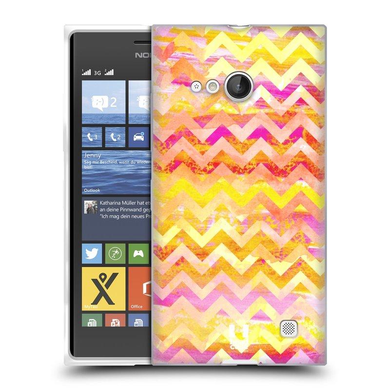 Silikonové pouzdro na mobil Nokia Lumia 730 Dual SIM HEAD CASE Yellow Chevron (Silikonový kryt či obal na mobilní telefon Nokia Lumia 730 Dual SIM)
