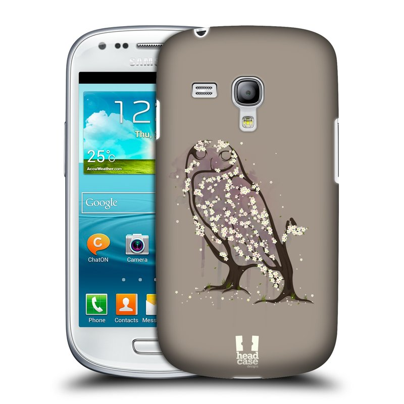 Plastové pouzdro na mobil Samsung Galaxy S3 Mini VE HEAD CASE BLOOM SOVA (Kryt či obal na mobilní telefon Samsung Galaxy S3 Mini VE GT-i8200)
