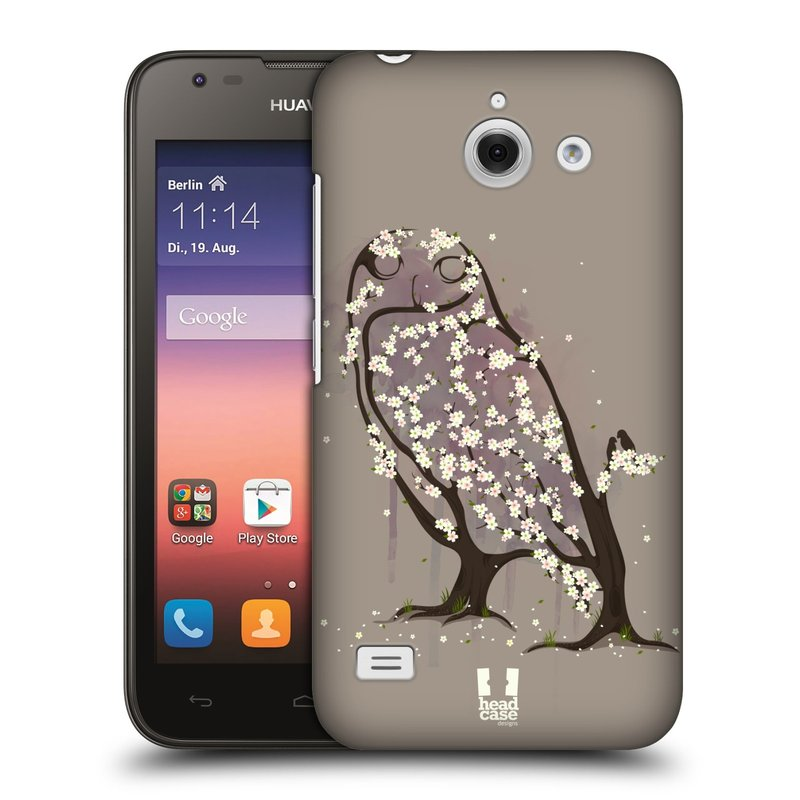 Plastové pouzdro na mobil Huawei Ascend Y550 HEAD CASE BLOOM SOVA (Kryt či obal na mobilní telefon Huawei Ascend Y550)