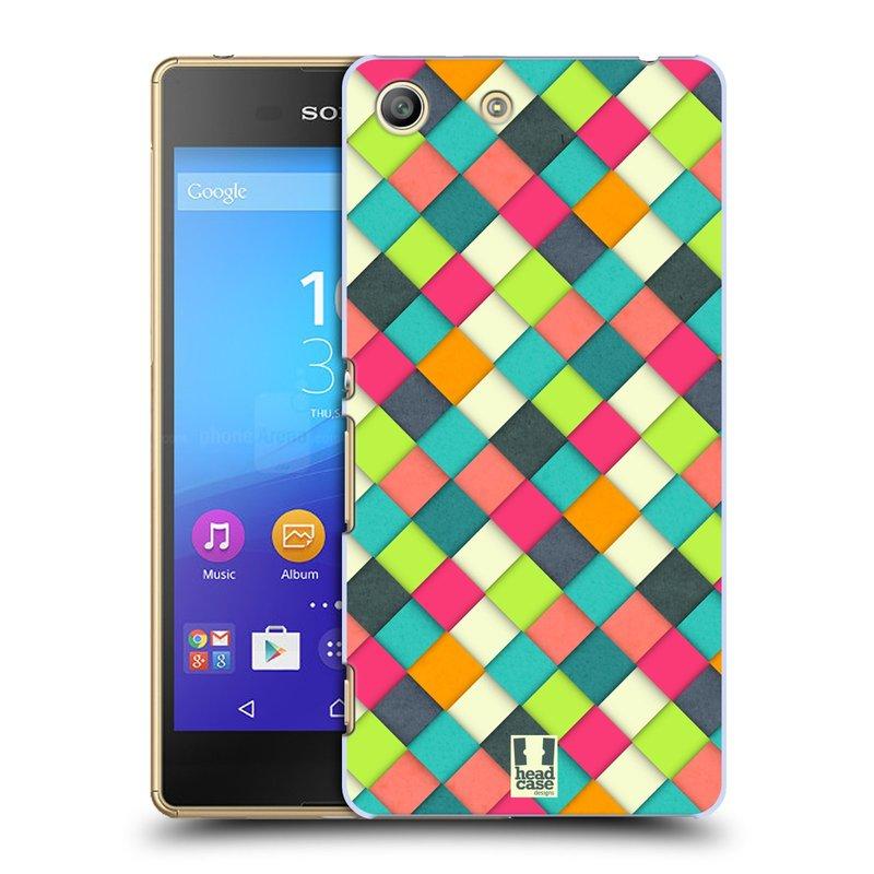 Plastové pouzdro na mobil Sony Xperia M5 HEAD CASE WOVEN (Kryt či obal na mobilní telefon Sony Xperia M5 Aqua)