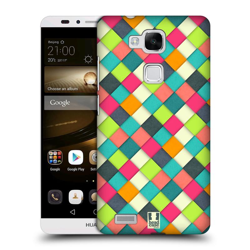 Plastové pouzdro na mobil Huawei Ascend Mate 7 HEAD CASE WOVEN (Kryt či obal na mobilní telefon Huawei Ascend Mate7)