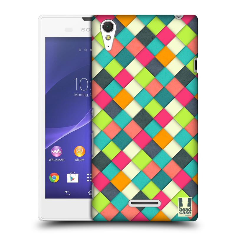 Plastové pouzdro na mobil Sony Xperia T3 D5103 HEAD CASE WOVEN (Kryt či obal na mobilní telefon Sony Xperia T3 )