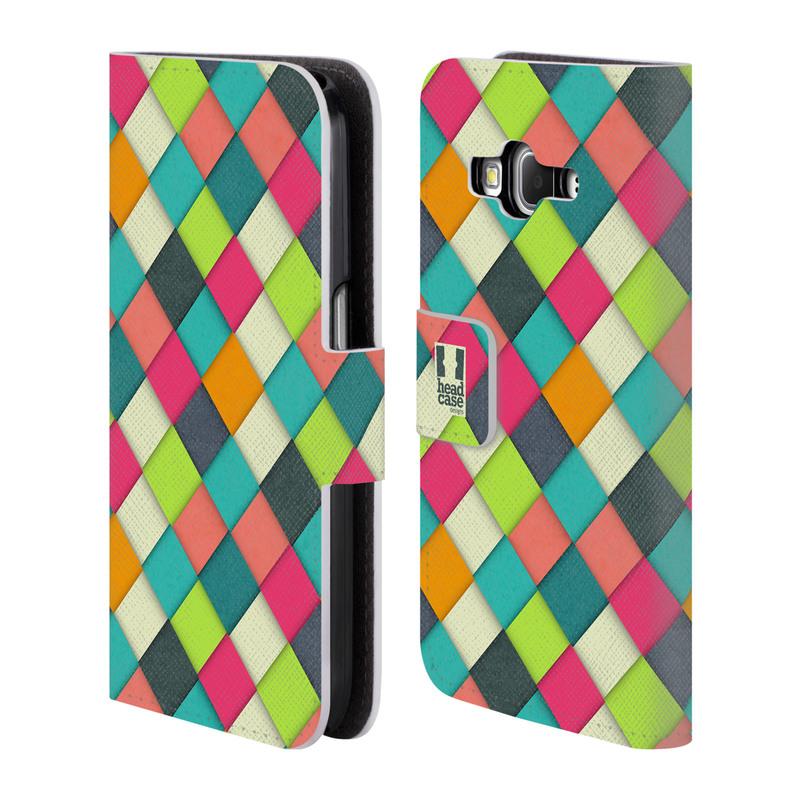 Flipové pouzdro na mobil Samsung Galaxy Core Prime LTE HEAD CASE WOVEN (Flipový vyklápěcí kryt či obal z umělé kůže na mobilní telefon Samsung Galaxy Core Prime LTE SM-G360)