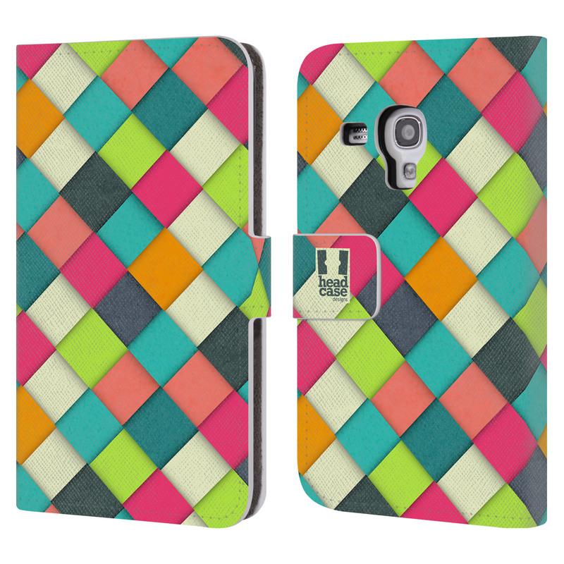 Flipové pouzdro na mobil Samsung Galaxy S III Mini HEAD CASE WOVEN (Flipový vyklápěcí kryt či obal z umělé kůže na mobilní telefon Samsung Galaxy S III Mini GT-I8190)