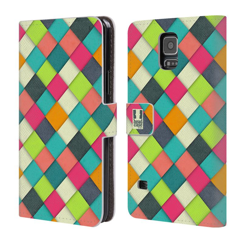 Flipové pouzdro na mobil Samsung Galaxy S5 HEAD CASE WOVEN (Flipový vyklápěcí kryt či obal z umělé kůže na mobilní telefon Samsung Galaxy S5 SM-G900)