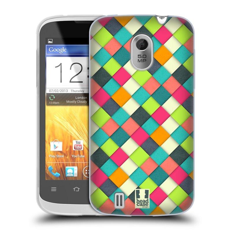 Silikonové pouzdro na mobil ZTE Blade III HEAD CASE WOVEN (Silikonový kryt či obal na mobilní telefon ZTE Blade 3)
