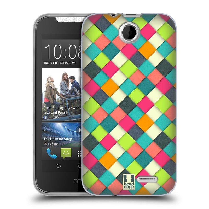 Silikonové pouzdro na mobil HTC Desire 310 HEAD CASE WOVEN (Silikonový kryt či obal na mobilní telefon HTC Desire 310)