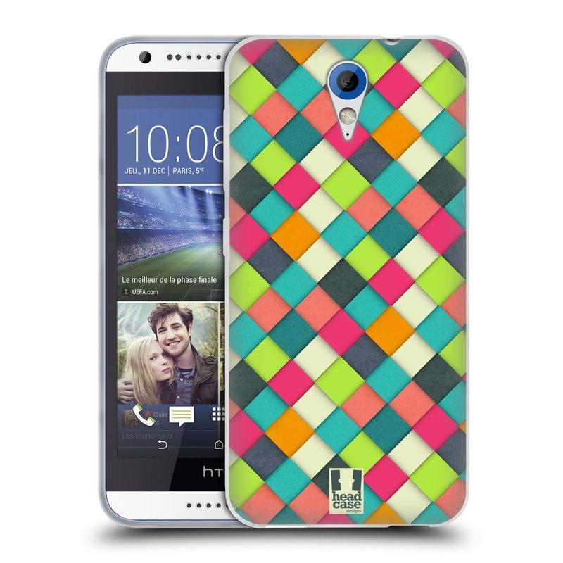 Silikonové pouzdro na mobil HTC Desire 620 HEAD CASE WOVEN (Silikonový kryt či obal na mobilní telefon HTC Desire 620)