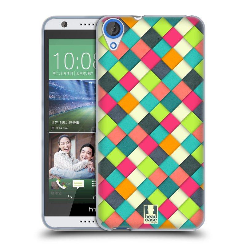 Silikonové pouzdro na mobil HTC Desire 820 HEAD CASE WOVEN (Silikonový kryt či obal na mobilní telefon HTC Desire 820)
