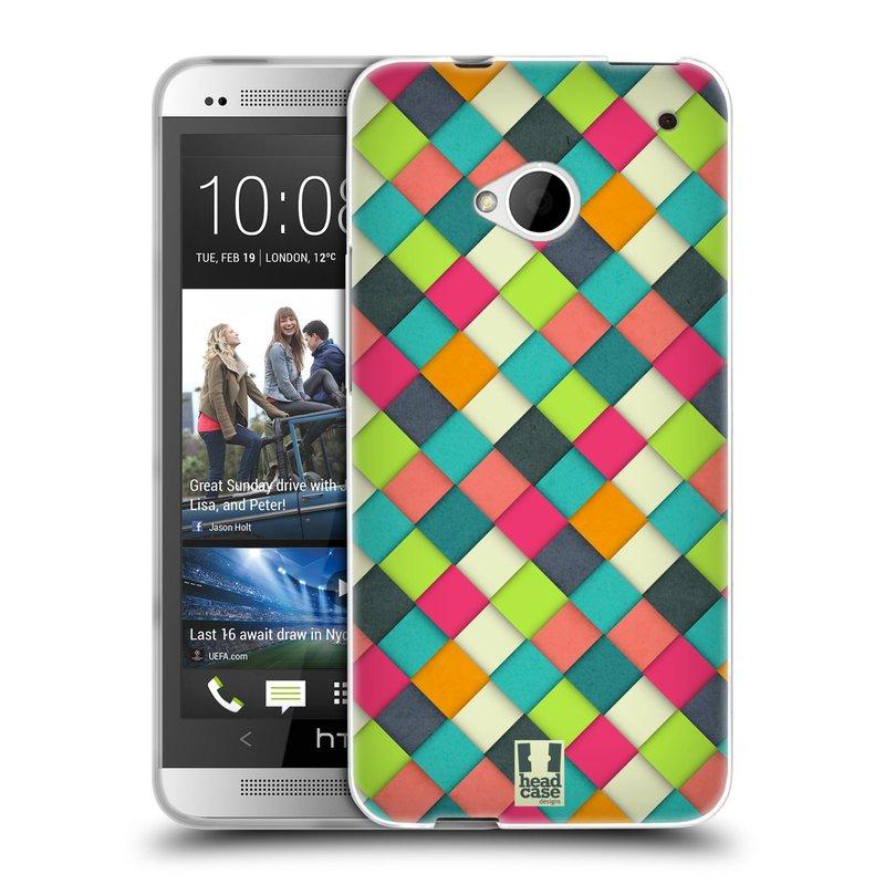 Silikonové pouzdro na mobil HTC ONE M7 HEAD CASE WOVEN (Silikonový kryt či obal na mobilní telefon HTC ONE M7)
