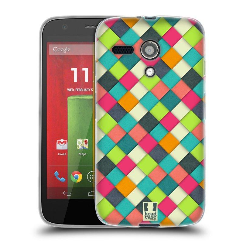 Silikonové pouzdro na mobil Motorola Moto G HEAD CASE WOVEN (Silikonový kryt či obal na mobilní telefon Motorola Moto G)