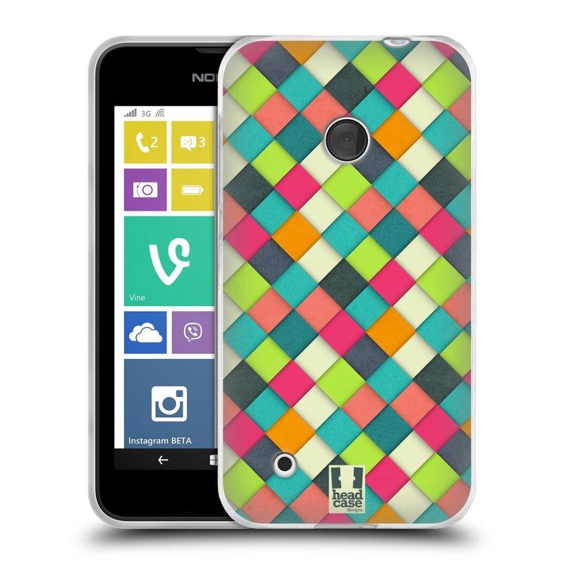 Silikonové pouzdro na mobil Nokia Lumia 530 HEAD CASE WOVEN (Silikonový kryt či obal na mobilní telefon Nokia Lumia 530)