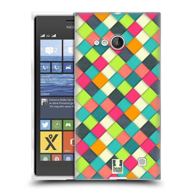 Silikonové pouzdro na mobil Nokia Lumia 735 HEAD CASE WOVEN (Silikonový kryt či obal na mobilní telefon Nokia Lumia 735)