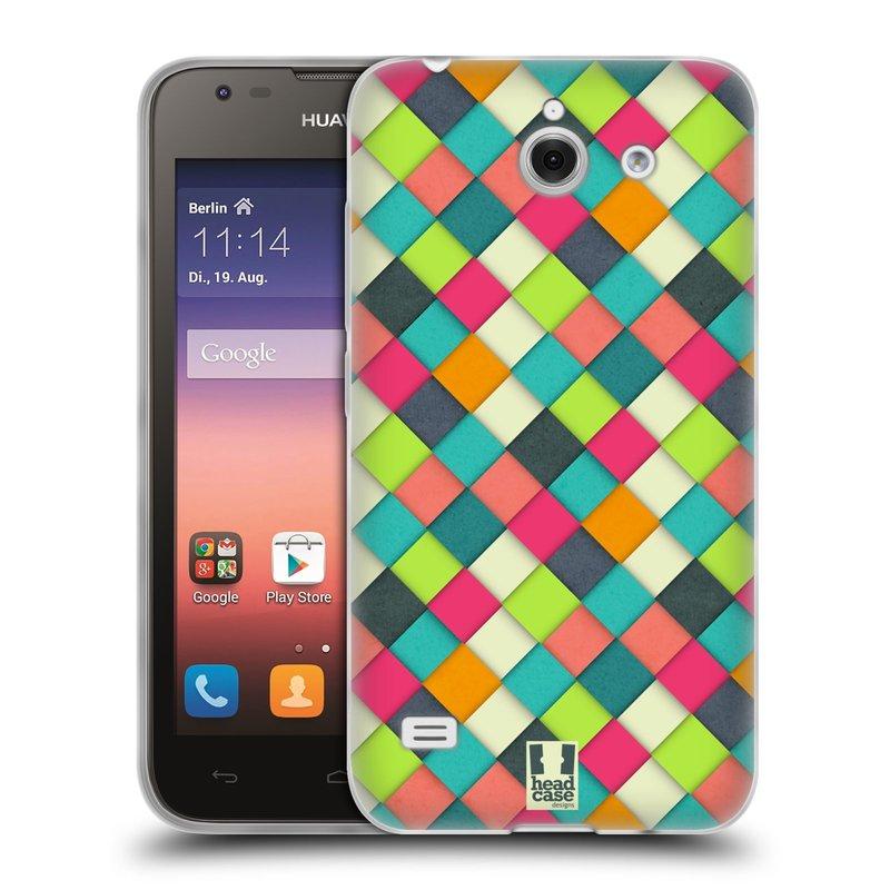 Silikonové pouzdro na mobil Huawei Ascend Y550 HEAD CASE WOVEN (Silikonový kryt či obal na mobilní telefon Huawei Ascend Y550)