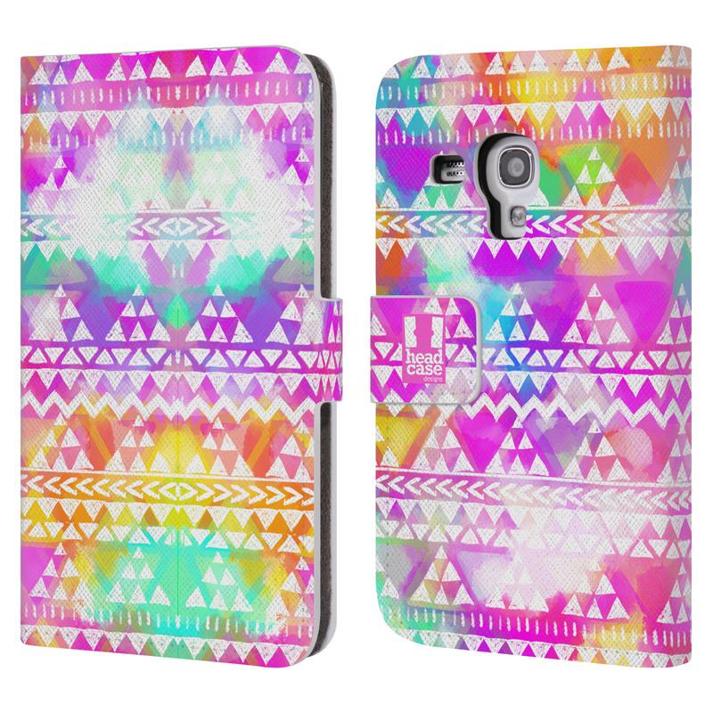 Flipové pouzdro na mobil Samsung Galaxy S III Mini HEAD CASE Tribal Colourful Bash (Flipový vyklápěcí kryt či obal z umělé kůže na mobilní telefon Samsung Galaxy S III Mini GT-I8190)