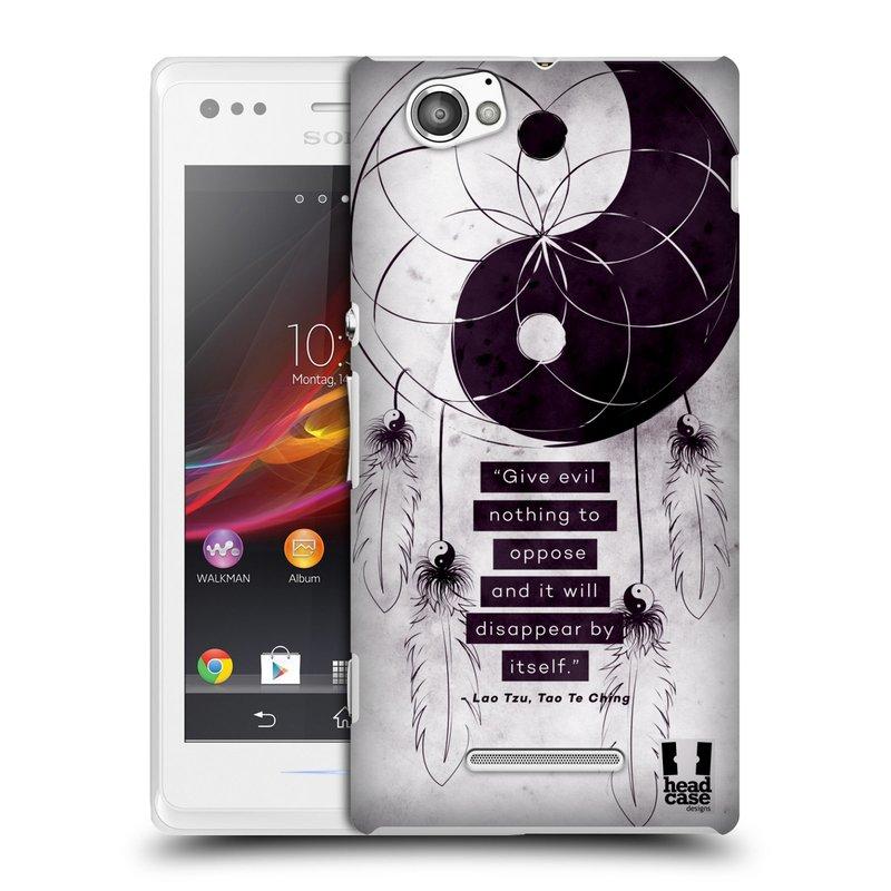 Plastové pouzdro na mobil Sony Xperia M C1905 HEAD CASE Yin a Yang CATCHER (Kryt či obal na mobilní telefon Sony Xperia M a M Dual)