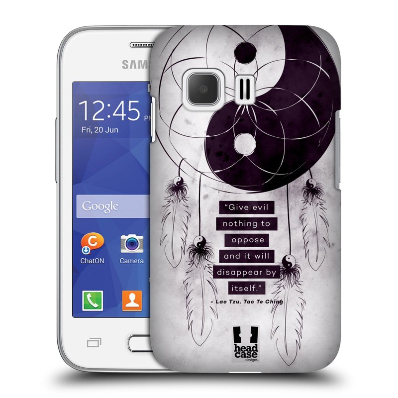 Plastové pouzdro na mobil Samsung Galaxy Young 2 HEAD CASE Yin a Yang CATCHER (Kryt či obal na mobilní telefon Samsung Galaxy Young 2 SM-G130)