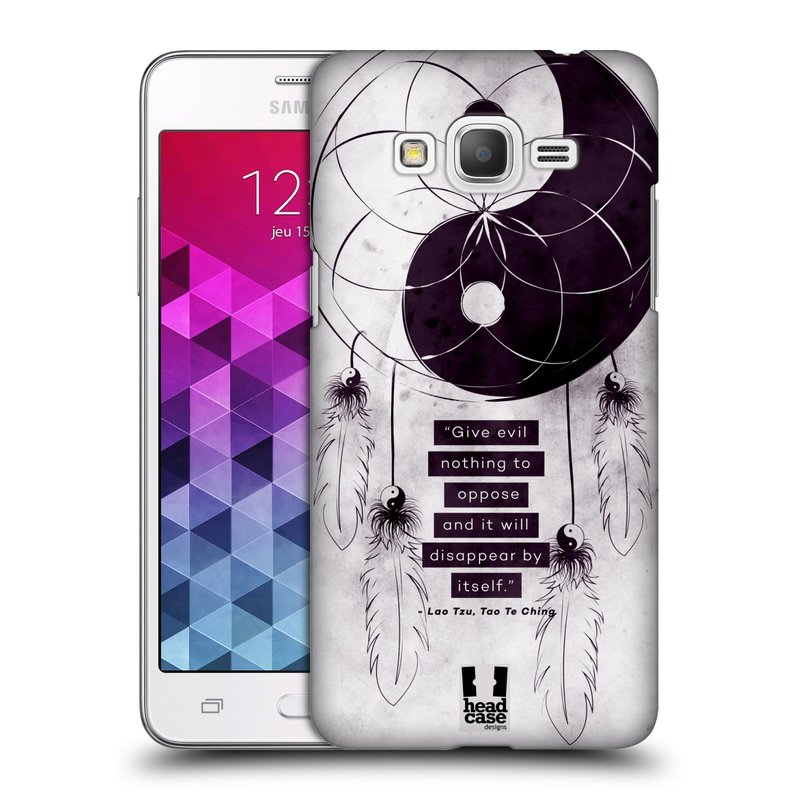 Plastové pouzdro na mobil Samsung Galaxy Grand Prime HEAD CASE Yin a Yang CATCHER (Kryt či obal na mobilní telefon Samsung Galaxy Grand Prime SM-G530)