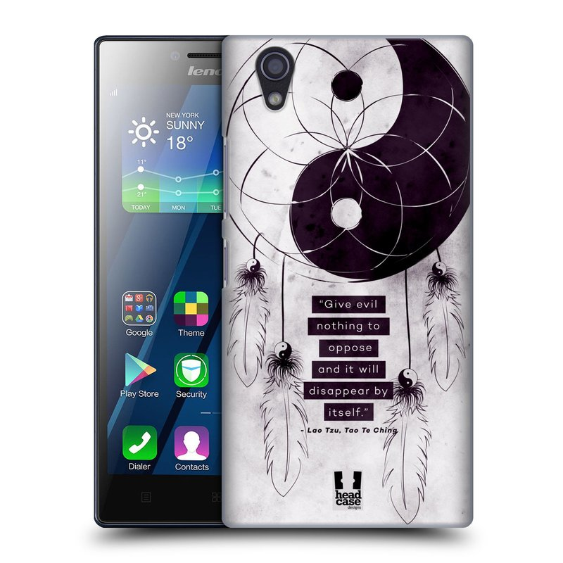 Plastové pouzdro na mobil Lenovo P70 HEAD CASE Yin a Yang CATCHER (Kryt či obal na mobilní telefon Lenovo P70)