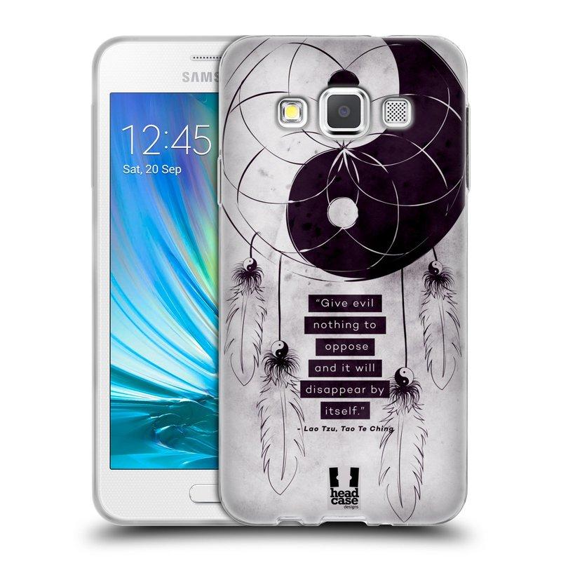 Silikonové pouzdro na mobil Samsung Galaxy A3 HEAD CASE YIn a Yang CATCHER (Silikonový kryt či obal na mobilní telefon Samsung Galaxy A3 SM-A300)