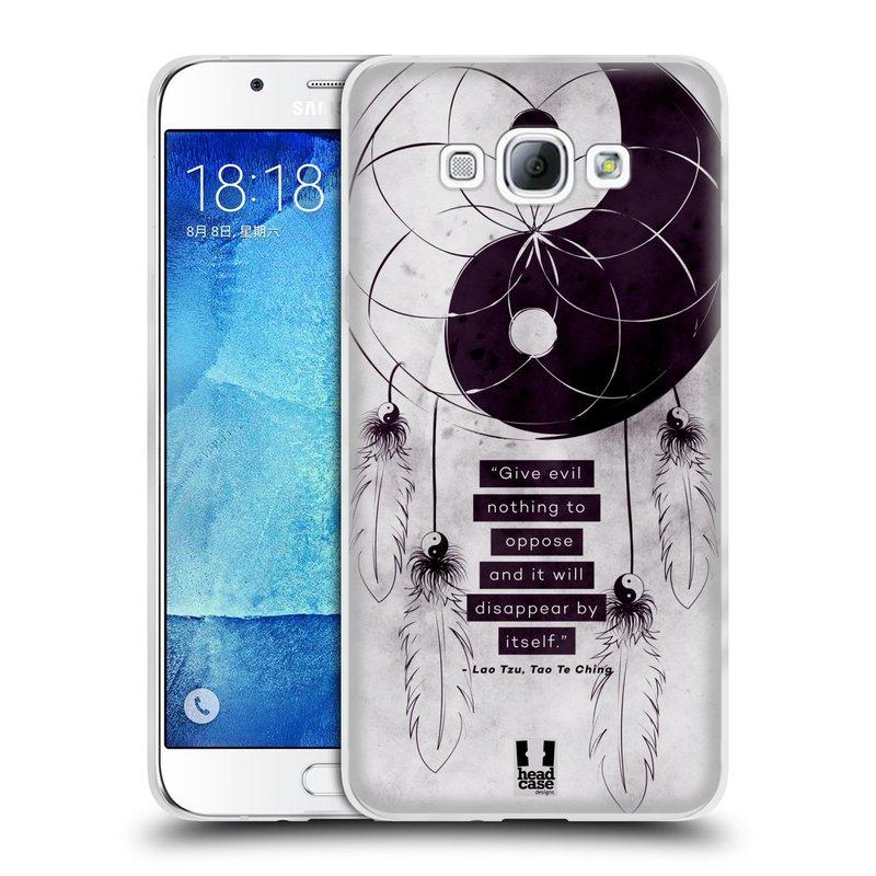 Silikonové pouzdro na mobil Samsung Galaxy A8 HEAD CASE YIn a Yang CATCHER (Silikonový kryt či obal na mobilní telefon Samsung Galaxy A8 SM-A800)