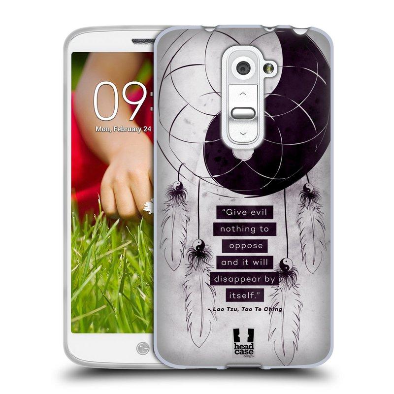 Silikonové pouzdro na mobil LG G2 Mini HEAD CASE YIn a Yang CATCHER (Silikonový kryt či obal na mobilní telefon LG G2 Mini D620)
